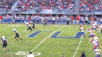 Blue Out Football Game, Benefit for Thelma Urban, Raider Band, Sports Stadium, Tamaqua, 9-4-2015 (302)
