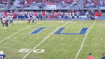 Blue Out Football Game, Benefit for Thelma Urban, Raider Band, Sports Stadium, Tamaqua, 9-4-2015 (307)
