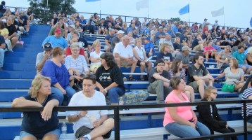 Blue Out Football Game, Benefit for Thelma Urban, Raider Band, Sports Stadium, Tamaqua, 9-4-2015 (356)