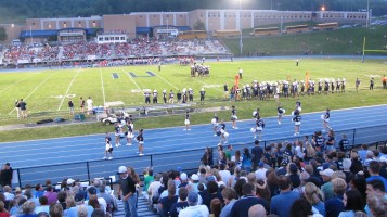 Blue Out Football Game, Benefit for Thelma Urban, Raider Band, Sports Stadium, Tamaqua, 9-4-2015 (375)