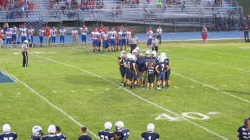 Blue Out Football Game, Benefit for Thelma Urban, Raider Band, Sports Stadium, Tamaqua, 9-4-2015 (376)
