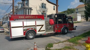 House Fire, Smoke, West Water Street, Lansford, 9-1-2015 (1)
