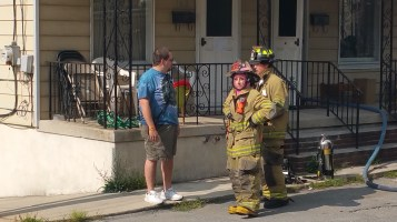 House Fire, Smoke, West Water Street, Lansford, 9-1-2015 (25)