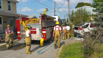 House Fire, Smoke, West Water Street, Lansford, 9-1-2015 (70)