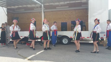 Kazka Ukrainian Folk Ensemble, during Parish Picnic, St. Mary's Ukrainian Catholic Church, McAd (43)