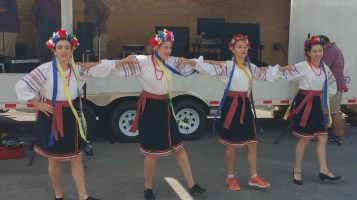 Kazka Ukrainian Folk Ensemble, during Parish Picnic, St. Mary's Ukrainian Catholic Church, McAd (85)