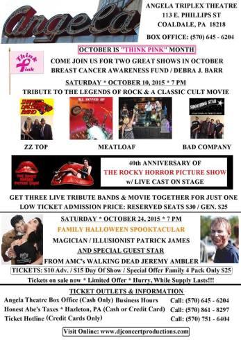 10-10-2015, Tribute to Rock and Classic Cult Movie, Angela Triplex Theatre, Coaldale
