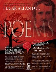 10-17-2015, Edgar Allan Poe Poems, Schuylkill County Council for the Arts, Pottsville