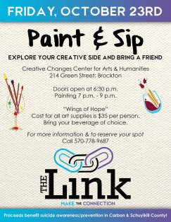10-23-2015, Paint & Sip Benefit for The Link, Creative Changes Center, Brockton