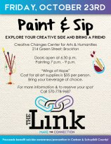10-23-2015, Paint & Sip Benefit for The Link, Creative Changes Center, Brockton