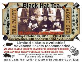 10-25-2015, Black Hat Tea, Summit Hill Heritage Center, Summit Hill