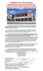 10-3-2015, Dedication for New Fire Truck Station, Pumper, Boat, Lehighton Fire Company, Lehighton