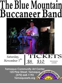 11-7-2015, Blue Mountain Buccaneer Band, Tamaqua Community Arts Center, Tamaqua