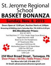 11-8-2015, Basket Bonanza, St. Jerome Regional School, Tamaqua