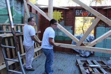 Building a Cabin from Camp Brainerd, Lower Owl Creek Reservoir, Tamaqua, 10-11-2015 (18)