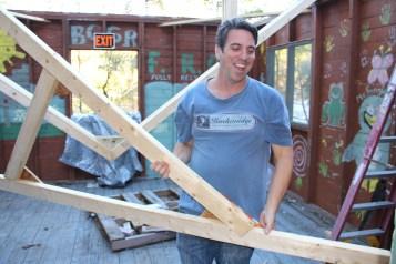Building a Cabin from Camp Brainerd, Lower Owl Creek Reservoir, Tamaqua, 10-11-2015 (20)