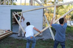 Building a Cabin from Camp Brainerd, Lower Owl Creek Reservoir, Tamaqua, 10-11-2015 (24)