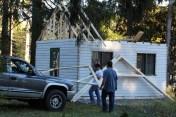 Building a Cabin from Camp Brainerd, Lower Owl Creek Reservoir, Tamaqua, 10-11-2015 (32)