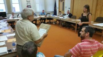 Leona Rega, Award, Tamaqua Borough Council Meeting, Borough Hall, Tamaqua, 9-1-2015 (1)