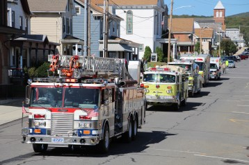 Parade for New Fire Station, Pumper Truck, Boat, Lehighton Fire Department, Lehighton (294)