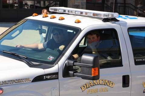 Parade for New Fire Station, Pumper Truck, Boat, Lehighton Fire Department, Lehighton (298)