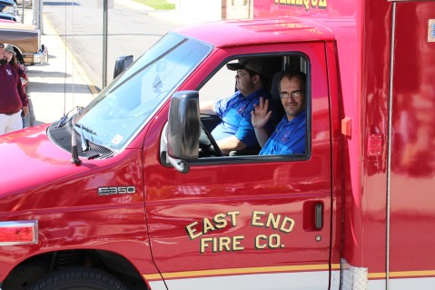 Parade for New Fire Station, Pumper Truck, Boat, Lehighton Fire Department, Lehighton (343)