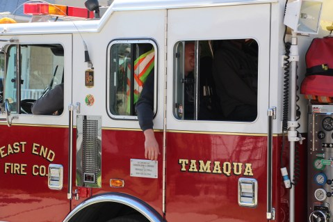 Parade for New Fire Station, Pumper Truck, Boat, Lehighton Fire Department, Lehighton (353)