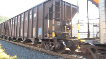 Train Passing in front of Tamaqua Train Station, Tamaqua, 9-15-2015 (6)