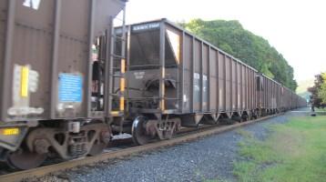 Train Passing in front of Tamaqua Train Station, Tamaqua, 9-15-2015 (7)