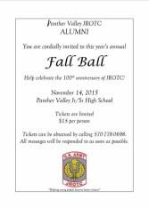 11-14-2015, Panther Valley JROTC Alumni Fall Ball, Celebrating 100 Years, PV Jr, Sr High School, Lansford