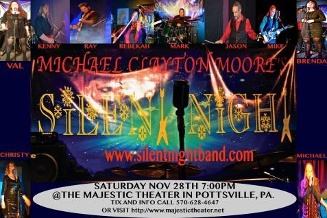 11-28-2015, Michael Clayton Moore's performance of Silent Night, Majestic Theater, Pottsville
