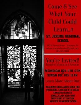 12-6-2015, Transfer Information Sessions, St Jerome Regional School, Tamaqua