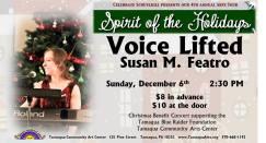 12-6-2015, Voice Lifted, Susan Featro, Sprit of the Holidays, Tamaqua Community Arts Center, Tamaqua