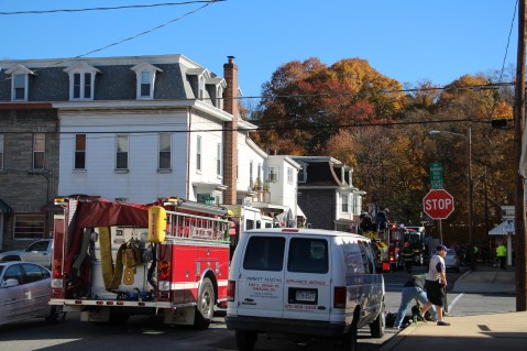House Fire, 208 Biddle Street, Tamaqua, 11-4-2015 (1)