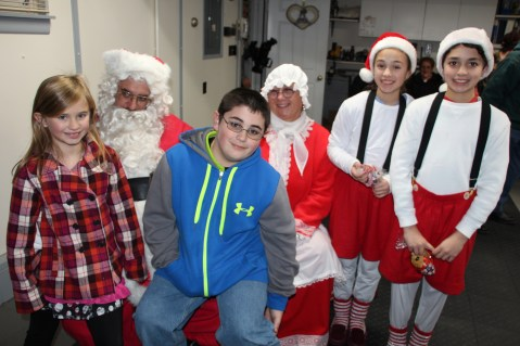 Santa Gathering, after Parade, Frank Fabrizio's House, in Brockton, 11-28-2015 (1)