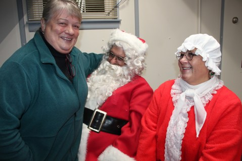 Santa Gathering, after Parade, Frank Fabrizio's House, in Brockton, 11-28-2015 (17)