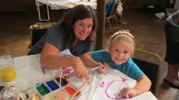 Stephen Bennett, Kids Portrait Painting Workshop, Community Arts Center, Tamaqua, 9-29-2015 (17)