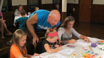 Stephen Bennett, Kids Portrait Painting Workshop, Community Arts Center, Tamaqua, 9-29-2015 (5)