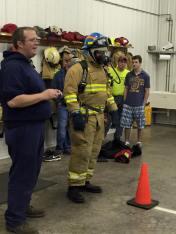 Tamaqua Salvation Army Youth Group Visits South Ward Fire Company, Tamaqua, 10-8-2015 (210)
