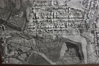 Aerial Photograph of Tamaqua, Borough Hall, Tamaqua, 1970s (106)