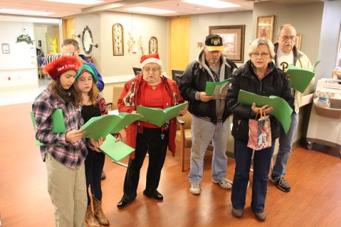 Parishioners of St John UCC in Tamaqua Go Caroling, St Luke's Hospital, Coaldale, 12-20-2015 (1)