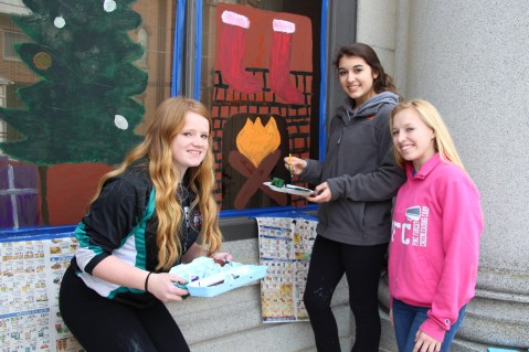PV Students Paint Store Fronts, via Lansford Alive, Lansford, 12-11-2015 (11)