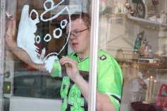 PV Students Paint Store Fronts, via Lansford Alive, Lansford, 12-11-2015 (4)