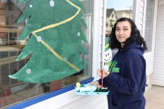 PV Students Paint Store Fronts, via Lansford Alive, Lansford, 12-11-2015 (8)