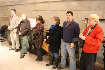 Ribbon Cutting for Renovations to Tamaqua Historical Society Museum, Tamaqua, 12-18-2015 (14)