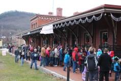 Santa Train Rides, via Tamaqua Historical Society, Train Station, Tamaqua, 12-19-2015 (49)