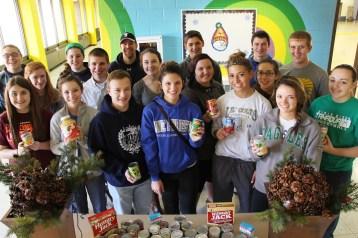 Tamaqua Area Student Government Association Donates Food, Trees, to Salvation Army, Tamaqua (2)