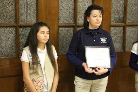 Two Tamaqua Girl Scouts Receive Silver Award, Evangelical Lutheran Church, Tamaqua, 12-20-2015 (10)