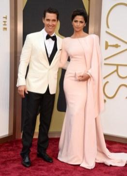 Matthew McConaughey & Camila Alves wearing Gabriela Cadena