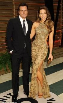Len Wiseman & Kate Beckinsale (Wearing Elie Saab)